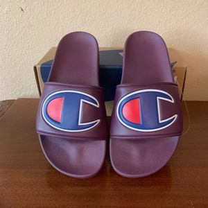 Champion Shoes   Champion Purple Logo